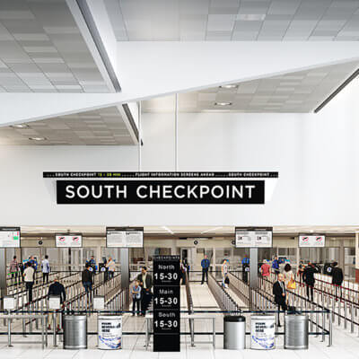 South Security Checkpoint Expansion