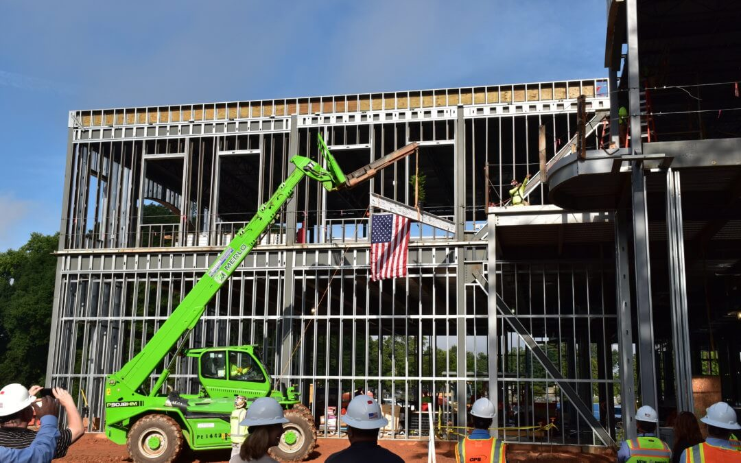 New South Tops Out on Fayetteville City Hall & Parks Project